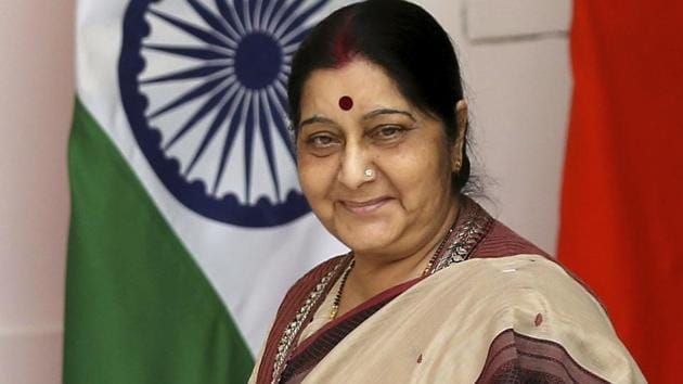 External affairs minister Sushma Swaraj laid out the approach at a meeting with top diplomats posted in the neighbourhood last Tuesday.(AP File Photo)