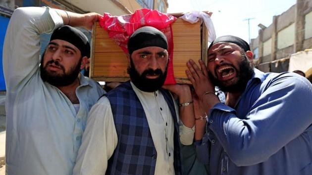 On July 1, a suicide bombing in eastern Afghanistan's Jalalabad city killed at least 19 people, mostly Sikhs and Hindus.(HT File)