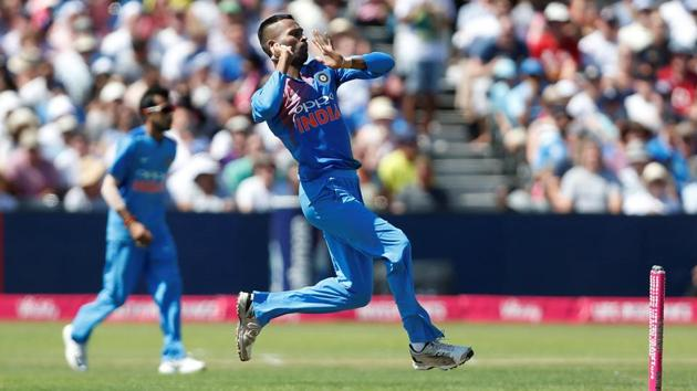 Hardik Pandya's spell proved decisive in India's seven-wicket win over England in the third and final T20 in Bristol.(REUTERS)