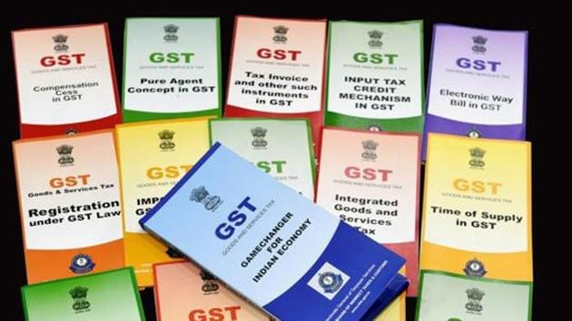 Booklets on GST distributed by the Central Board of Direct Taxes. The government has proposed as many as 46 amendments to the Goods and Services Tax (GST) laws.(PTI)
