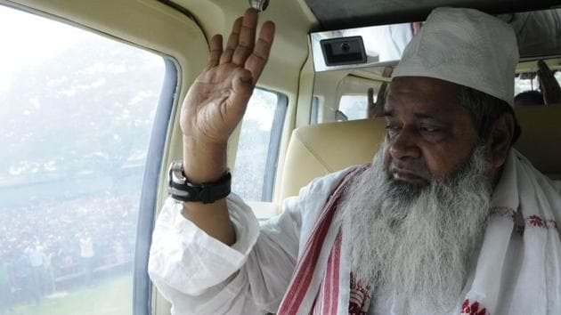 Badruddin Ajmal said that the BJP-led state government and the RSS were interfering to make sure that a large section of minorities did not make it to the final list.(HT FILE PHOTO)