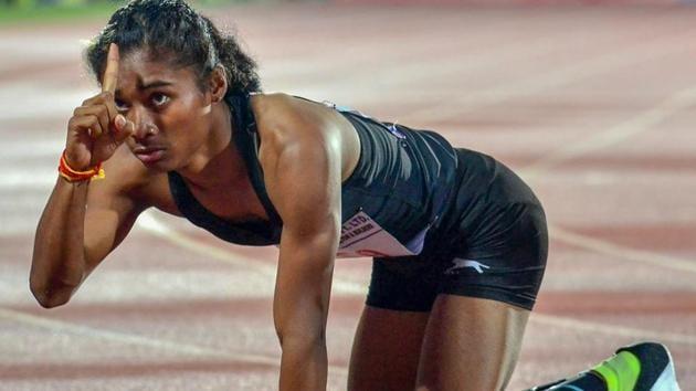 Hima Das and Jisna Mathew advanced to the womens 400 metres semi-finals at the IAAF U-20 World Championships.(PTI)