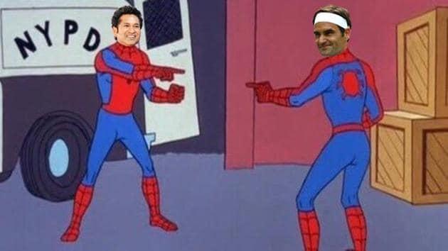 Sachin Tendulkar and Roger Federer are termed as the best in their respective sports.(Twitter/ICC)