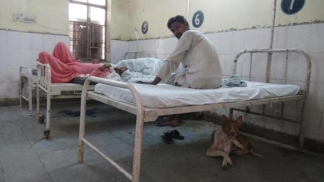 The Kaman community health centre (CHC) is the largest health centre in the Mewat region and has 50 beds.(HT Photo)