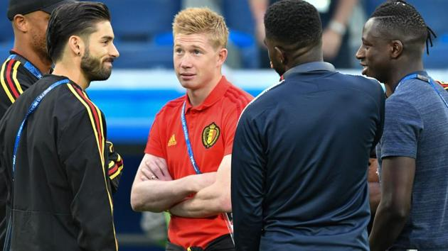 Belgium face France in the first World Cup 2018 semi-final in Saint Petersburg on Tuesday.(AFP)
