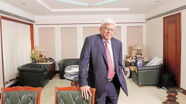 Deepak Parekh, chairman of Housing Development Finance Corporation(HDFC) Ltd.(Hemant Mishra/Mint)