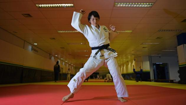 Japan's Yuko Fujii is one of the very few women in the world to head any top-level male sports team, let alone judo.(AFP)