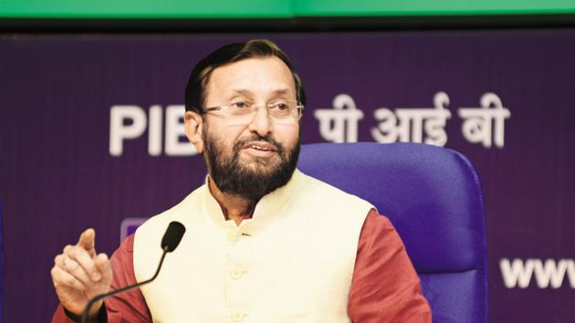 Jio Institute was trending on Twitter on Monday as many users tagged human resource development minister Prakash Javdekar, asking him about the institute's location and credentials.(HT File Photo)
