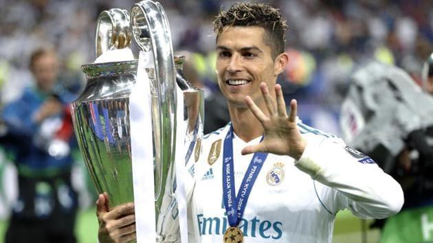 Cristiano Ronaldo won the Champions League three successive times with Real Madrid.(AP)