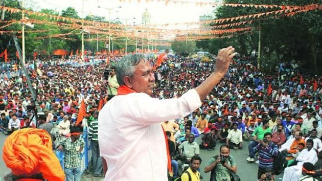 Hindu Samhati members said Tapan Ghosh completely disassociated himself from the organisation over the past couple of months.(HT File Photo)