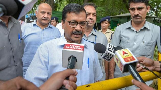 "Arvind Kejriwal moved the application for withdrawing his petition in the case involving advocate Amit Sibal, son of former Union minister Kapil Sibal, as the Delhi CM had settled the matter by apologising before a trial court for making ""unfounded allegations"" against the lawyer.(PTI)"