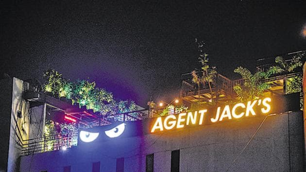 Located on Senapati Bapat Road, Agent Jack's has put up a board in the entrance lobby describing rules and regulations and asking the patrons to follow them.(HT FILE PHOTO)