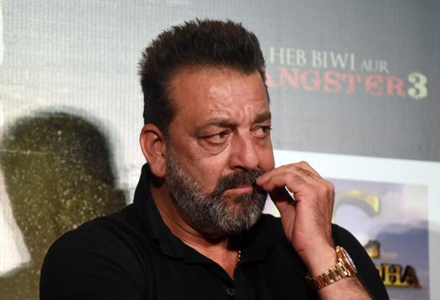 Sanjay Dutt looks on during the trailer launch of Saheb, Biwi Aur Gangster 3.(AFP)