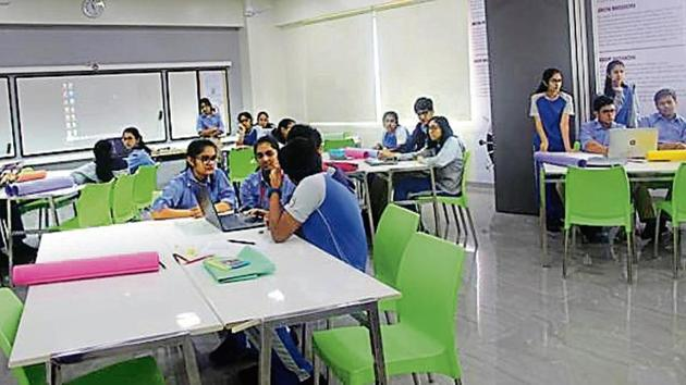 The school had invited designs from a batch of 25 students, who were split into groups of four and five.(Photo courtesy: JBCN International School)