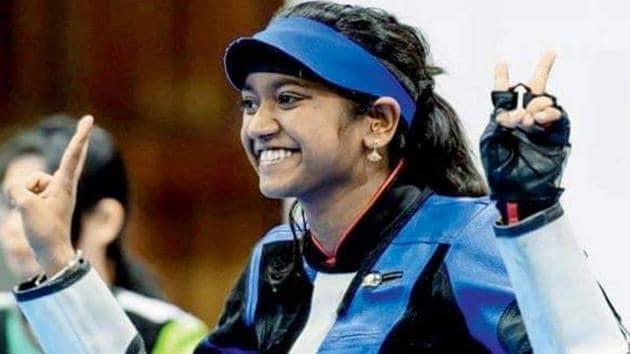 Elavenil Valarivan won the women's air rifle gold medal in the Meeting of Shooting Hopes junior international championship.(Twitter)