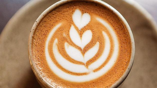 Latte recipe: Broccoli latte is made by adding broccoli powder into a regular cup of coffee, and aims to make people eat more vegetables.(AFP)