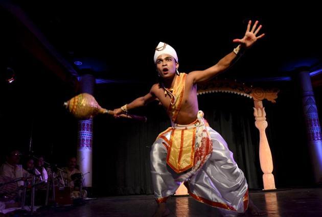 The origin of Sattriya lies in the theatre form Ankia Naat, which celebrates the Hindu deity Krishna.(Achyut Hatimuria)
