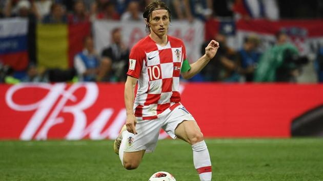Croatia midfielder Luka Modric won the Golden Ball award of the FIFA World Cup 2018 despite losing the final to France on Sunday in Moscow.(AFP)