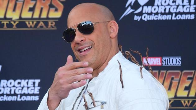 Actor Vin Diesel arrives or the World Premiere of the film Avengers: Infinity War in Hollywood.(AFP)