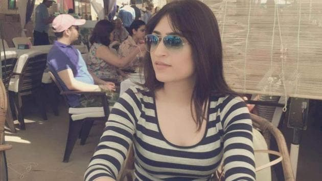 Air hostess Anissia Batra died after falling from terrace of her apartment in south Delhi.(HT Photo)