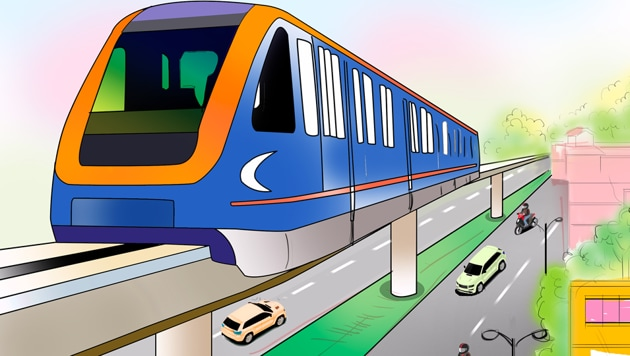 The first phase proposes to link Panchkula with Sector-43 ISBT in Chandigarh.(Biswajit Debnath/HT)