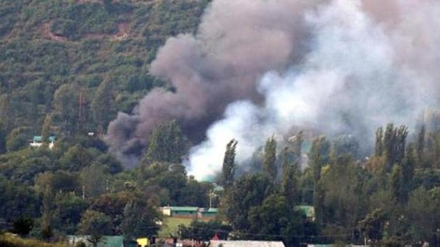 19 soldiers were killed in a deadly fidayeen strike at Uri army camp in September 2016.(HT File Photo)