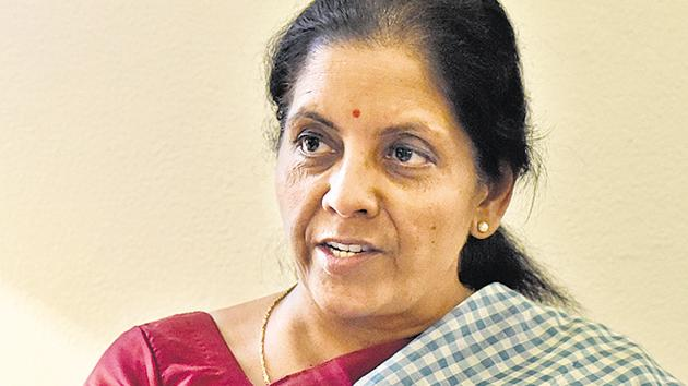 Defence minister Nirmala Sitharaman during at interview with Hindustan Times at New Delhi.(Mohd Zakir/HT File Photo)