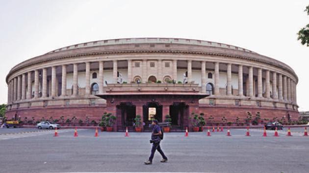 The Parliament House at Sansad Marg in New Delhi.(Pradeep Gaur/ Mint File)