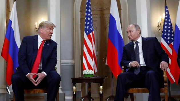U.S. President Donald Trump meets with Russian President Vladimir Putin in Helsinki, Finland, July 16, 2018. REUTERS/Kevin Lamarque(REUTERS)