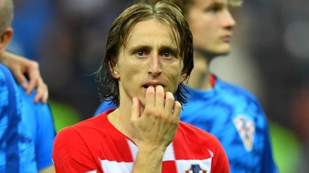 Croatia's Luka Modric looks dejected after FIFA World Cup 2018 final defeat to France.(REUTERS)
