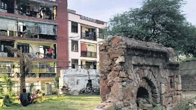 The Rani Jhansi Park in south Delhi is located near Mehrauli Archaeology Park.(HT Photo)