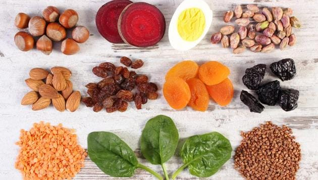 Non heme iron is found in plant-based sources such as grains, beans, vegetables, fruits, nuts and seeds.(Shutterstock)
