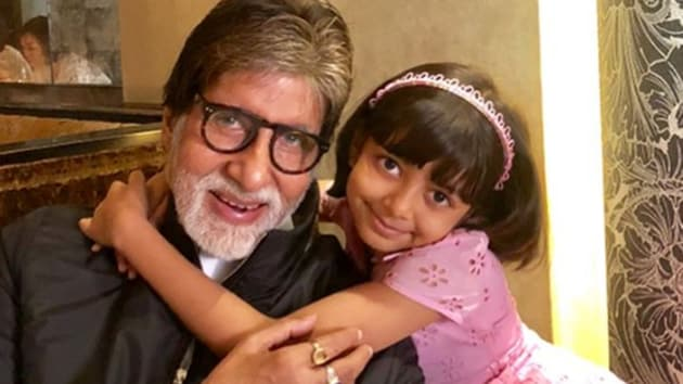 Amitabh Bachchan and Aaradhya are hanging out in London.