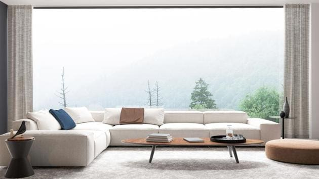 Sheer curtains are transparent and lend an airy and spacious feel to a room during the monsoon.(Shutterstock)