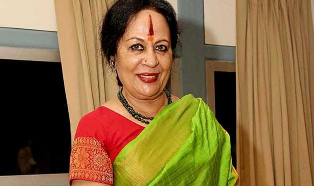 Sonal Mansingh, Indian classical dance exponent, has been nominated by the President of India to the Rajya Sabha.(PHOTO: PRABHAS ROY/HT)
