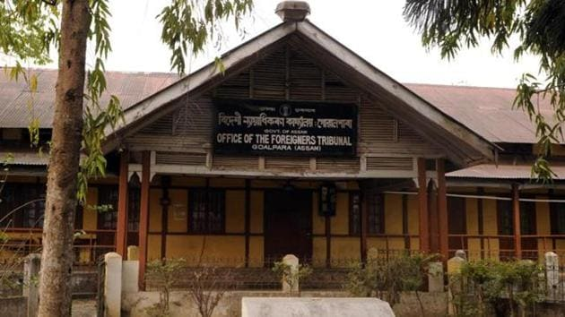 A Foreign Tribunals of Goalpara one of the 32 Tribunals of Assam where D Voters (Doubtful Voters) in Goalpara.(Subhendu Ghosh / HT Photo)