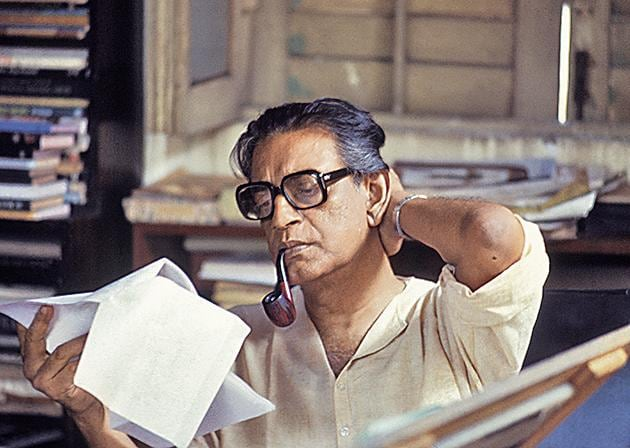 Satyajit Ray at home in Calcutta on 10 April, 1982.(Santosh Basak/ Getty Images)