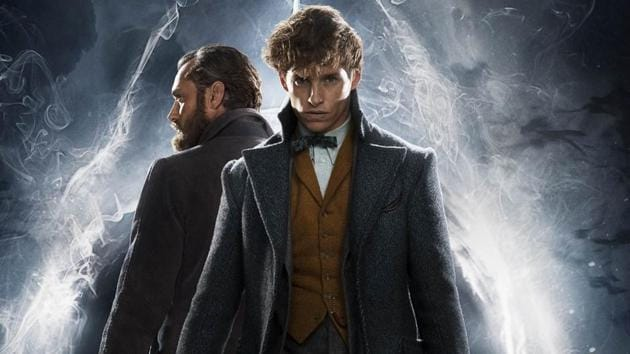 Eddie Redmayne and Jude Law as Newt Scamander and Professor Albus Dumbledore in Fantastic Beasts: The Crimes of Grindelwald.