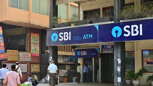 28 February 2018, New Delhi: State Bank of India - SBI. Photographed by Priyanka Parashar/Mint(HT File Photo)