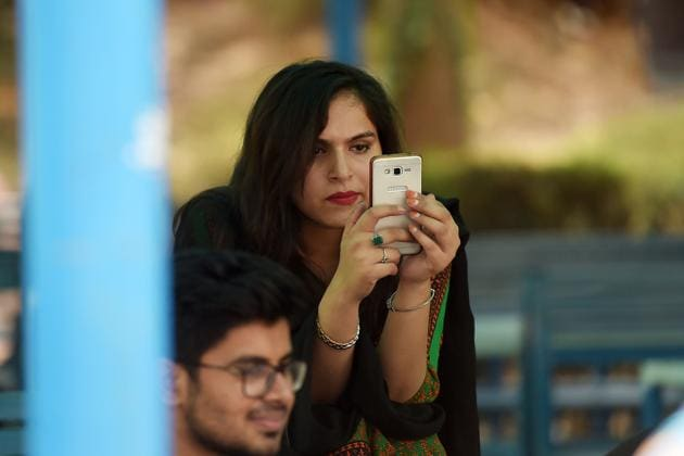 In the week leading up to general election in Pakistan, videos have gone viral and even made their way on to Pakistan's numerous and raucous television channels, ensuring they are broadcast to audiences without access to social media.(AFP)