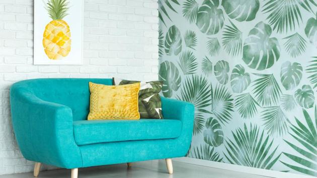 Home decor idea: Balance floral prints with some neutral colours to enhance your interiors.(Shutterstock)