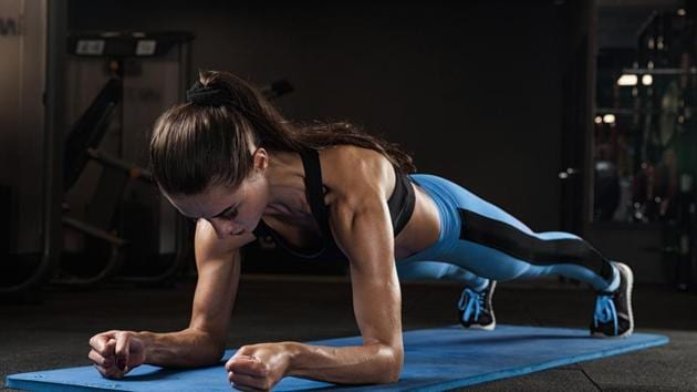The plank is one of the most effective exercises which can be done at home for getting yourself in shape.(Shutterstock)