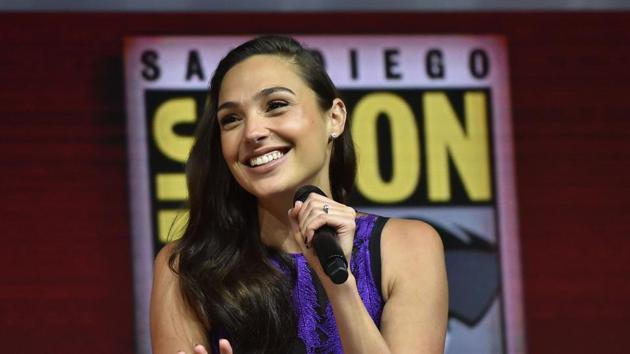 Gal Gadot participates in the Warner Bros. Theatrical Panel for Wonder Woman 1984 during Comic Con in San Diego.(AFP)