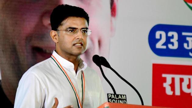 Rajasthan Congress president Sachin Pilot in Jaipur.(HT File Photo)