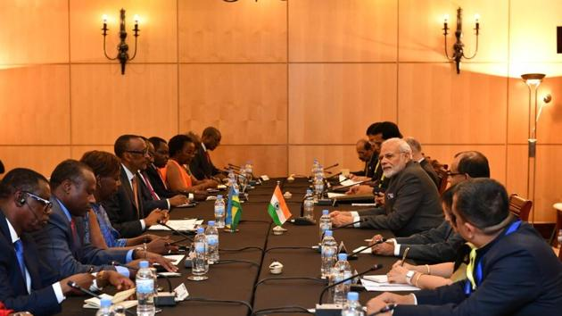 India will open a new High Commission in Rwanda in what can be seen as yet another manifestation of India's increasing engagements with Africa(Twitter/Narendra Modi)