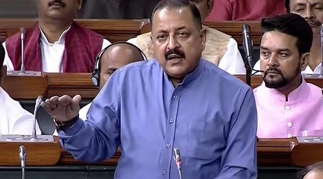 Union minister Jitendra Singh told Parliament on Wednesday that the decision to fill joint secretary-rank posts through 'lateral entry' was aimed at bringing in fresh ideas to governance.(PTI)