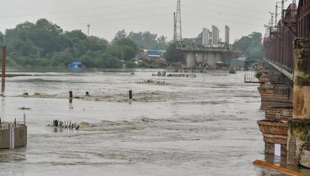 A view of Yamuna river, in New Delhi on Saturday, July 28, 2018.(PTI Photo)