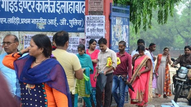 UPPSC passes its biggest test: LT grade teachers' recruitment exam 2018 was held peacefully at 1760 centres in 39 districts of UP.(HT photo/Anil Kumar Maurya)