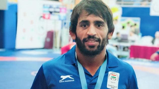 Bajrang Punia has now won two consecutive gold medals.(Twitter (@BajrangPunia))