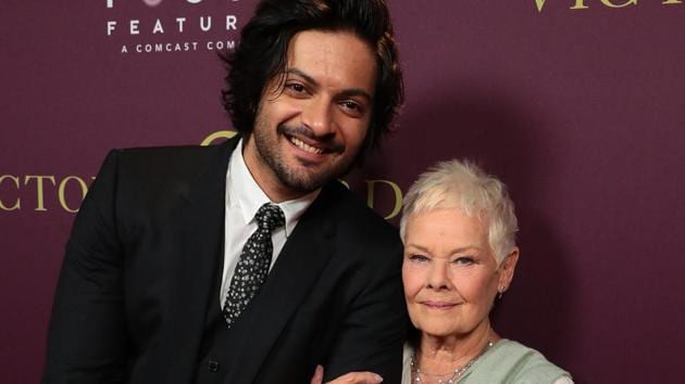 Bollywood actor Ali Fazal with English actor Judi Dench ahead of a royal premier of their film Victoria and Abdul at LA Indian Film Festival.